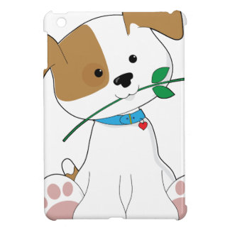 Cute Puppy with Rose Case For The iPad Mini