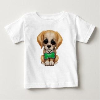 Cute Puppy with Saudi Arabian Flag Dog Tag Baby T-Shirt
