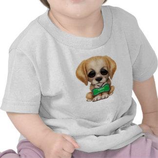 Cute Puppy with Saudi Arabian Flag Dog Tag Tee Shirts