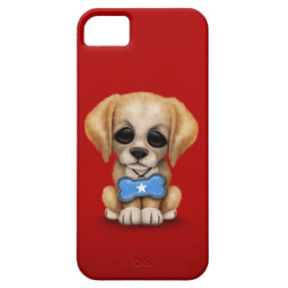Cute Puppy with Somali Flag Dog Tag, red iPhone SE/5/5s Case