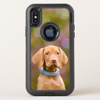 Cute puppyeyed Hungarian Vizsla Dog Puppy Photo __ OtterBox Defender iPhone X Case