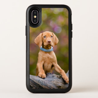 Cute puppyeyed Hungarian Vizsla Dog Puppy Photo OtterBox Symmetry iPhone X Case