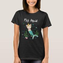 Cute Pur Maid Cat Lover Kitten Kitty Mermaid T-Shirt