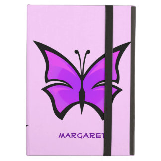 Cute Purple and Pink Butterfly Custom Name iPad Air Cases