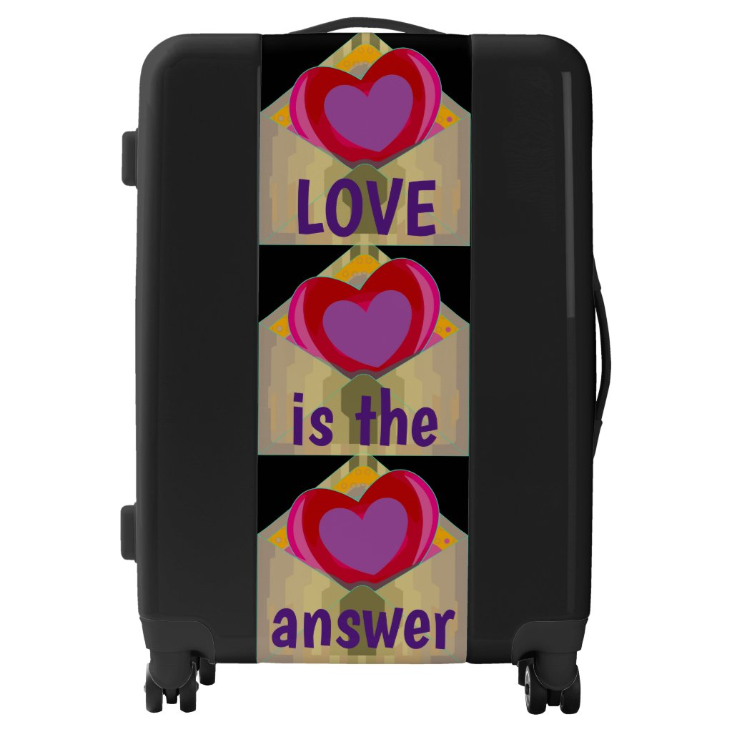 LOVE Hearts Design Luggage