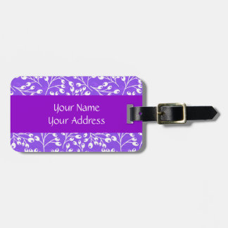 Cute purple and white autumn berries bag tags