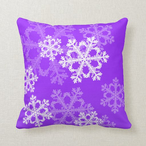 Lay your head down on Purple Christmas pillows from Zazzle! Find pre-existing designs on decorative and throw pillows or create your own!