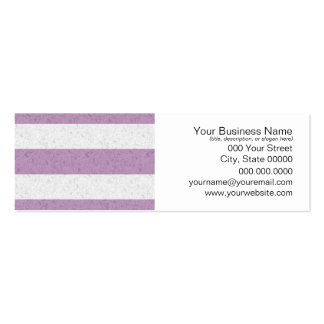 Cute Purple and White Striped Pattern Double-Sided Mini Business Cards (Pack Of 20)