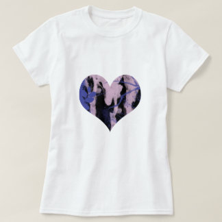 Cute purple and wink abstract heart. T-Shirt