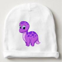 Cute Purple Baby Brontosaurus Dinosaur Baby Beanie