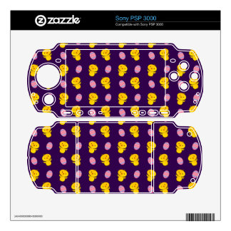 Cute purple baby chick easter pattern skin for PSP 3000