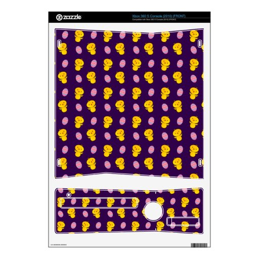 Cute purple baby chick easter pattern skins for the xbox 360 s
