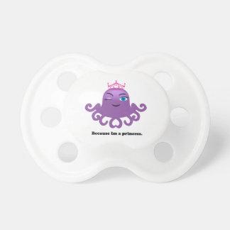 Cute purple baby girl princess octopus pacifier