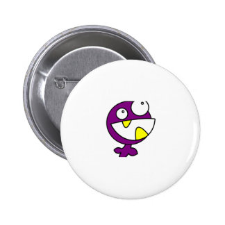Cute Purple Baby Monster Pinback Buttons