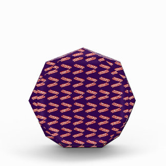 Cute purple bacon pattern award