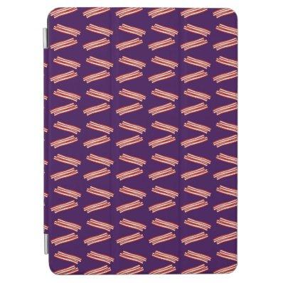 Cute purple bacon pattern iPad air cover