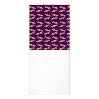 Cute purple bacon pattern rack cards