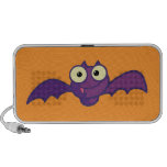 Cute Purple Bat Travel Speaker