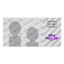 Cute Purple Bat with Hat. Card