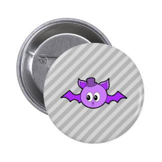 Cute Purple Bat with Hat. Pin