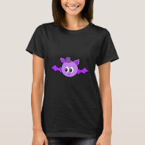 Cute Purple Bat with Hat. T-Shirt