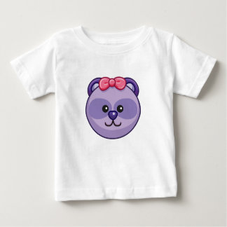 Cute Purple Bear Character Customizable Baby Baby T-Shirt