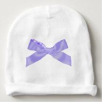 Cute Purple Bow Baby Beanie