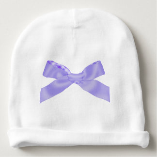 Cute Purple Bow Baby Beanie