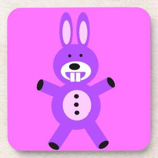 Cute Purple Bunny Beverage Coaster