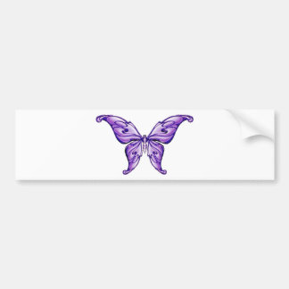 cute purple butterfly bumper sticker