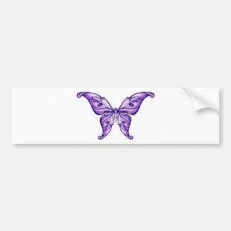 cute purple butterfly bumper stickers