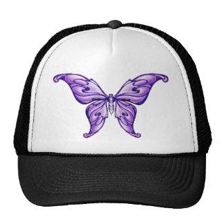cute purple butterfly hats