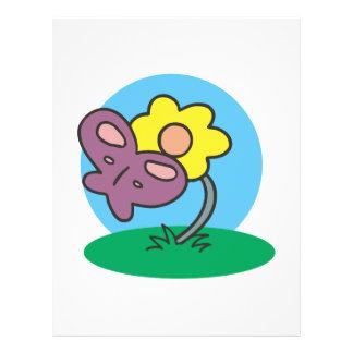 cute purple butterfly on flower flyer