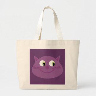 Cute purple cartoon cat head bag