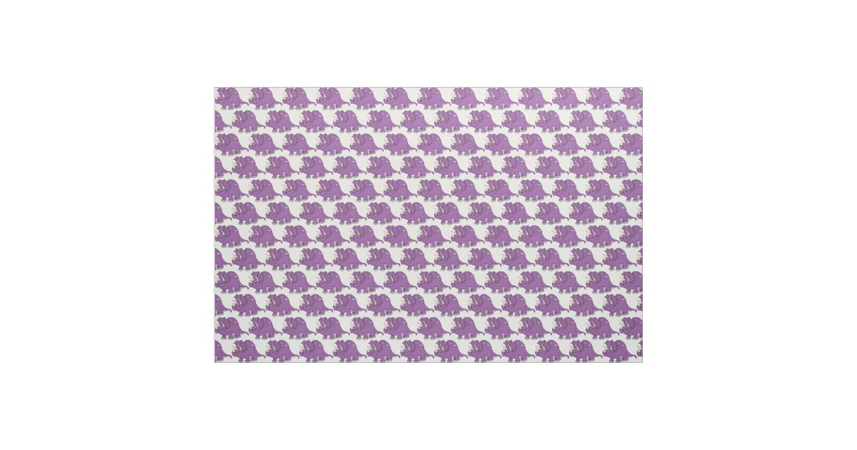 Cute purple cartoon dinosaur fabric for Purple dinosaur fabric