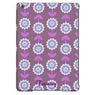 Cute Purple Cartoon Flower iPad Air Cover