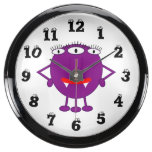 Cute Purple Cartoon Monster Aquavista Clock