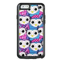 Cute purple cartoon owls seamless pattern OtterBox iPhone 6/6s case