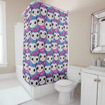 Cute purple cartoon owls seamless pattern shower curtain