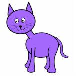 Cute Purple Cat Cartoon. Acrylic Cut Outs