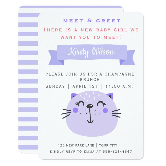 Cute Purple Cat | Meet & Greet New Baby