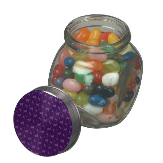 Cute purple cats and paws pattern jelly belly candy jars
