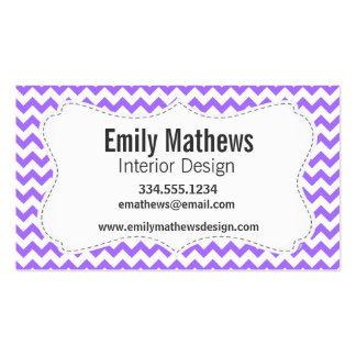Cute Purple Chevron Pattern Business Card