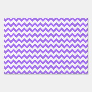 Cute Purple Chevron Pattern Lawn Signs