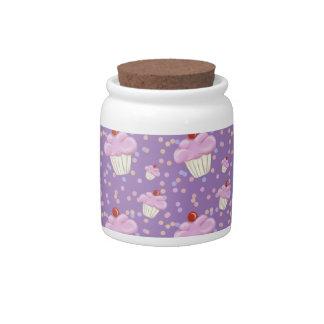 Cute Purple Cupcake Pattern Candy Dishes