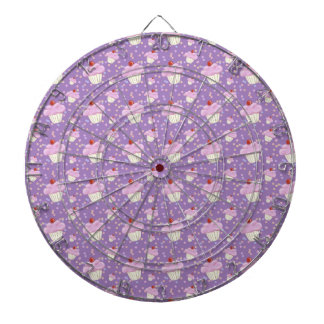 Cute Purple Cupcake Pattern Dartboard