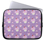 Cute Purple Cupcake Pattern Laptop Sleeves