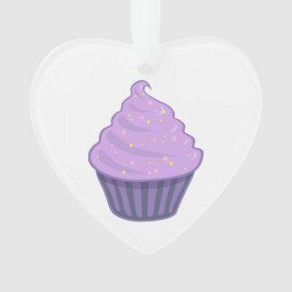 Cute Purple Cupcake Swirl Icing With Sprinkles