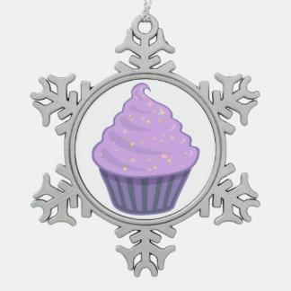 Cute Purple Cupcake Swirl Icing With Sprinkles Ornament