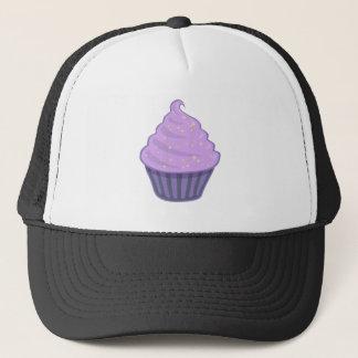 Cute Purple Cupcake Swirl Icing With Sprinkles Trucker Hat